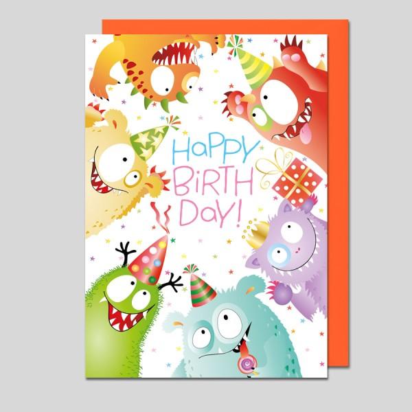 Glückwunschkarte Happy Birthday!