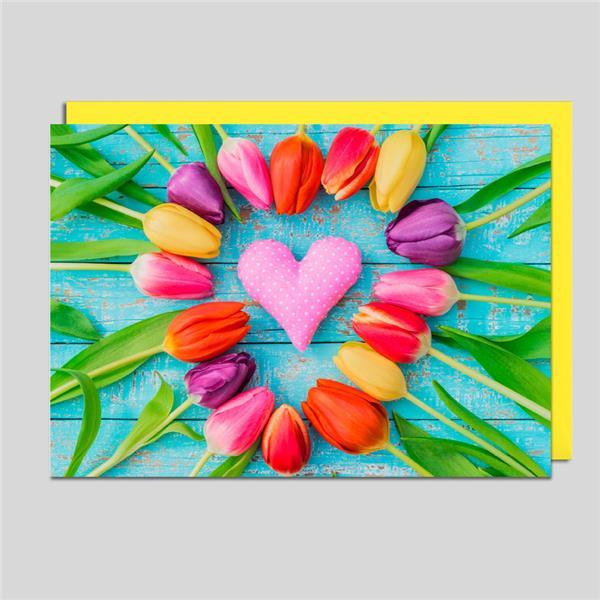 Fotokarte Tulpenkreis