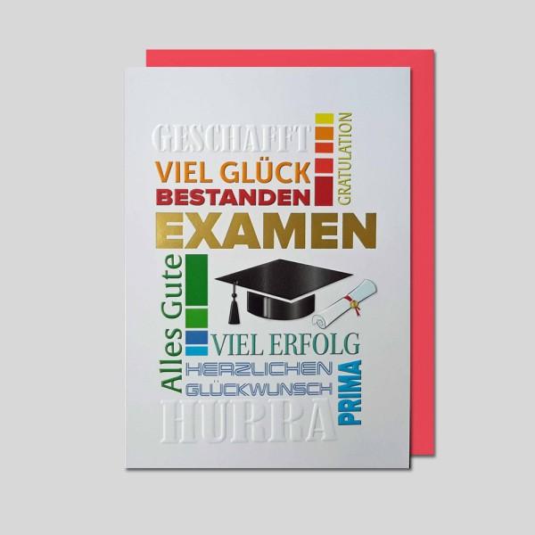 Umschlagkarte Examen