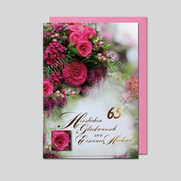Umschlagkarte Eiserne Hochzeit