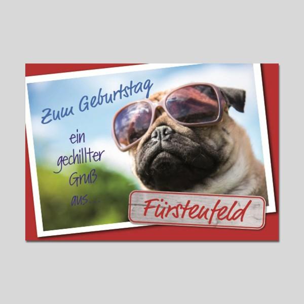 City-Cards Hund mit Sonnenbrille