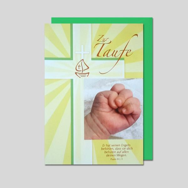 Umschlagkarte Taufe