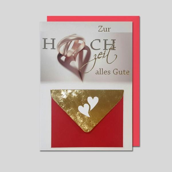 Umschlagkarte Hochzeit mit Geldumschlag
