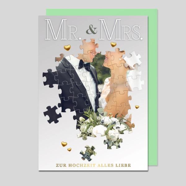 Glückwunschkarte Zur Hochzeit Mr.& Mrs.