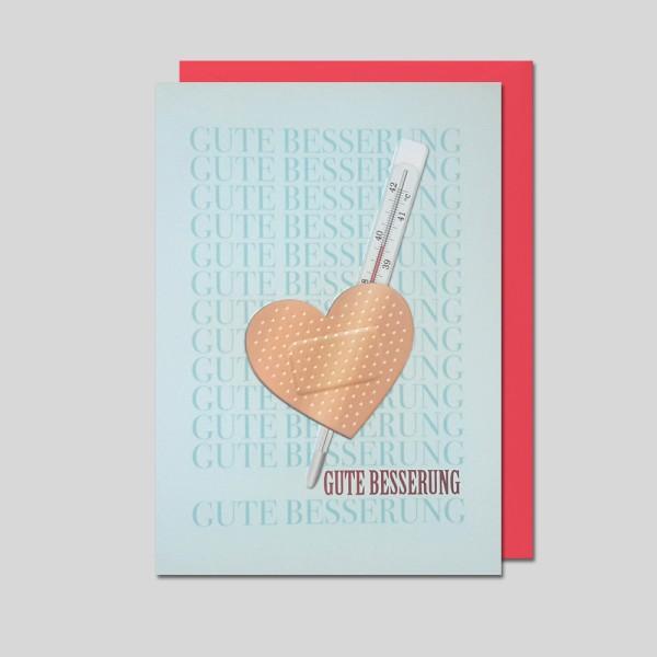 Umschlagkarte Gute Besserung
