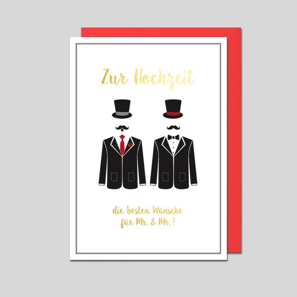 Hochzeitskarte Mr.&Mr.