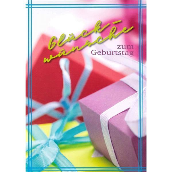 Umschlagkarte Geburtstag