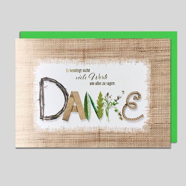 Umschlagkarte Danke