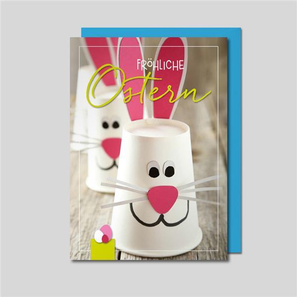 Umschlagkarte Frohe Ostern
