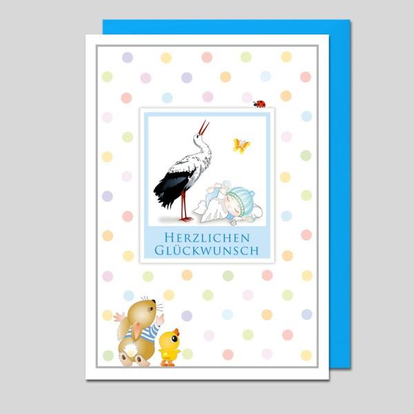 Glückwunschkarte Zum Baby