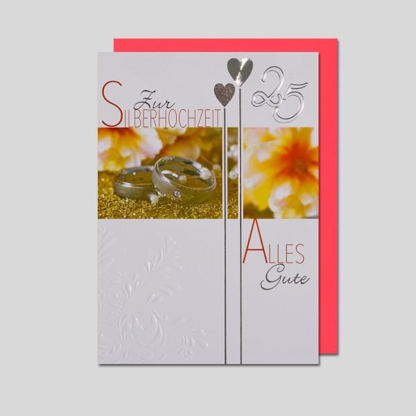 Umschlagkarte Silberhochzeit