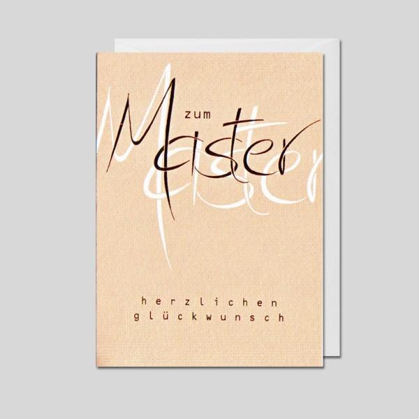 Umschlagkarte Zum Master