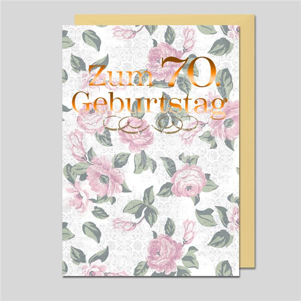 Umschlagkarte 70.Geburtstag