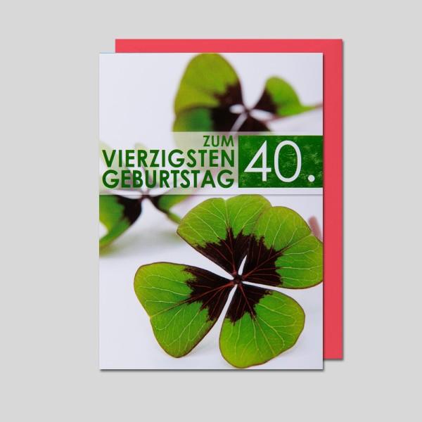 Fotokarte 40. Geburtstag