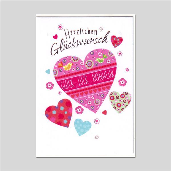 Minikarte Gratulatione by Alessia Herzlichen Glück