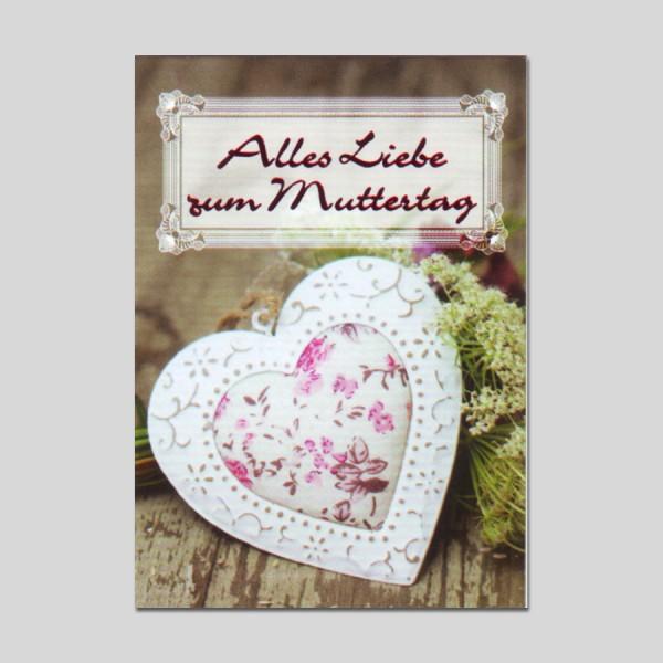 Minikarte Muttertag mit Klammer