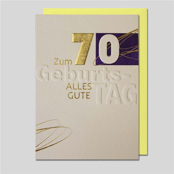 Umschlagkarte 70. Geburtstag