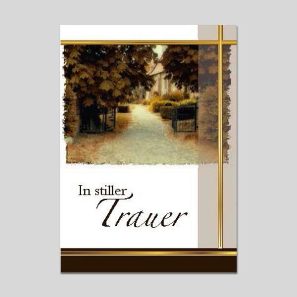 Minikarte Trauer mit Klammer