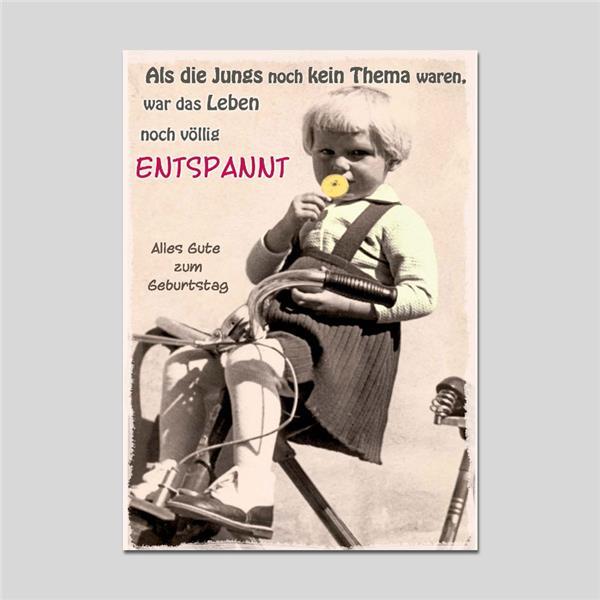 Postkarte Funny Vintage