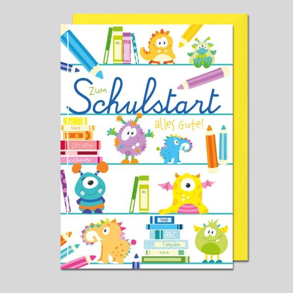 Glückwunschkarte Zum Schulanfang