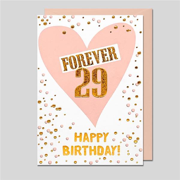 Glückwunschkarte Forever 29