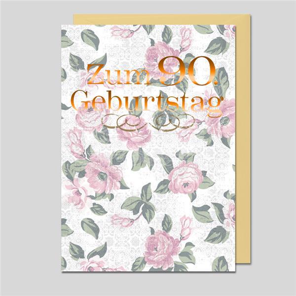 Umschlagkarte 90.Geburtstag