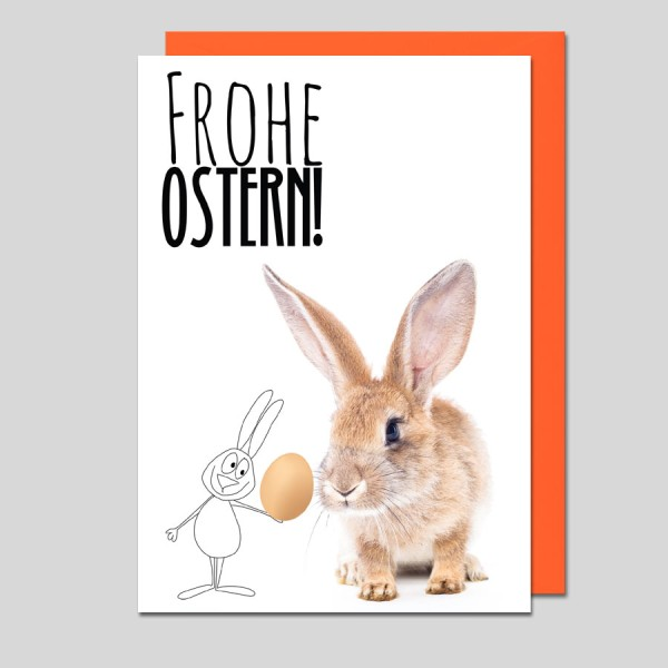 Umschlagkarte Frohe Ostern!