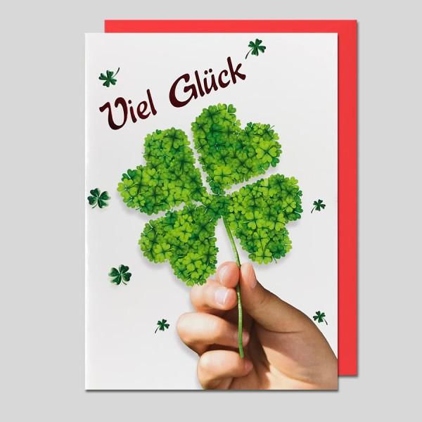 Umschlagkarte Viel Glück