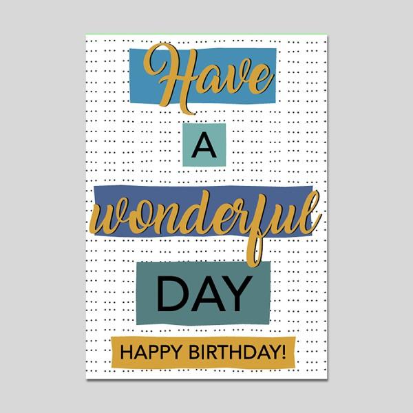 Minikarte Wonderful Day