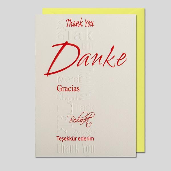 Kalligraphie Danke