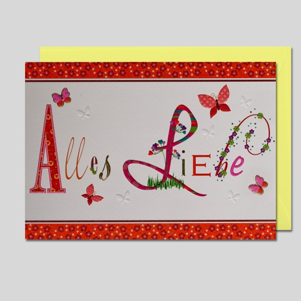 Letters Alles Liebe