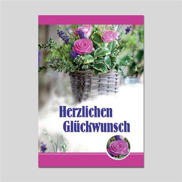 Minikarte Herzl. Glückwunsch mit Klammer