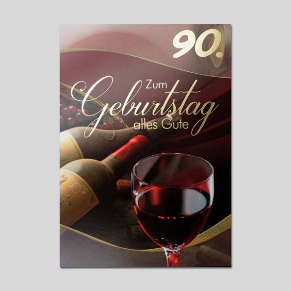 Fotokarte 90. Geburtstag