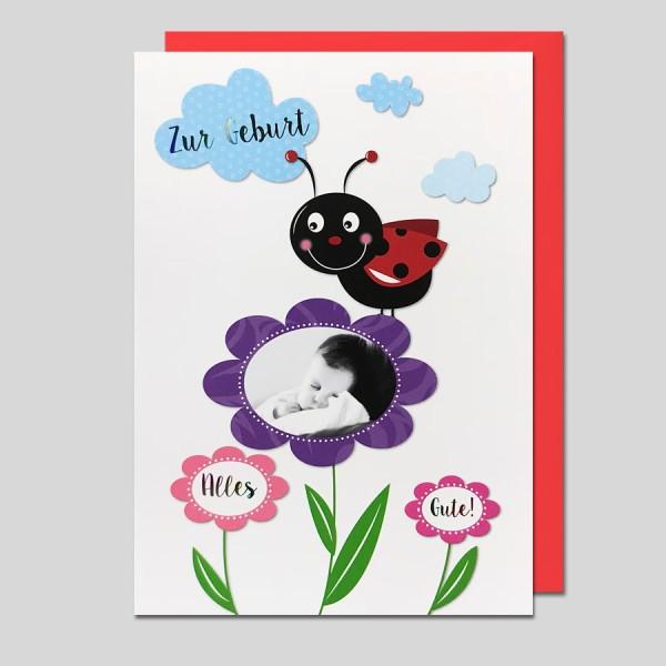 Umschlagkarte Zur Geburt