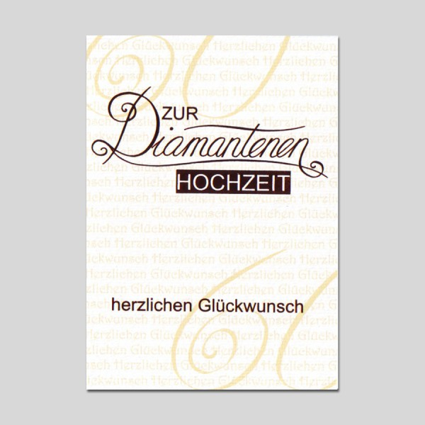 Umschlagkarte Diamantene Hochzeit