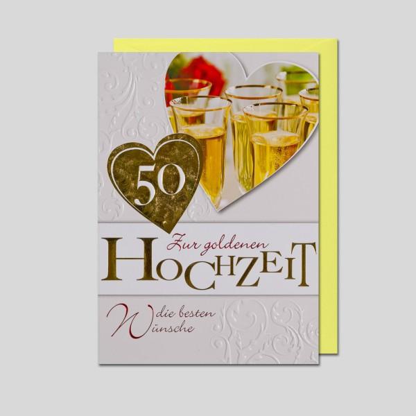 Umschlagkarte Goldhochzeit