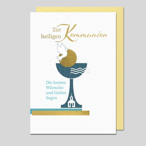 Umschlagkarte Zur Kommunion