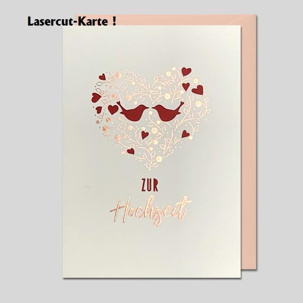 Laserkarte Zur Hochzeit