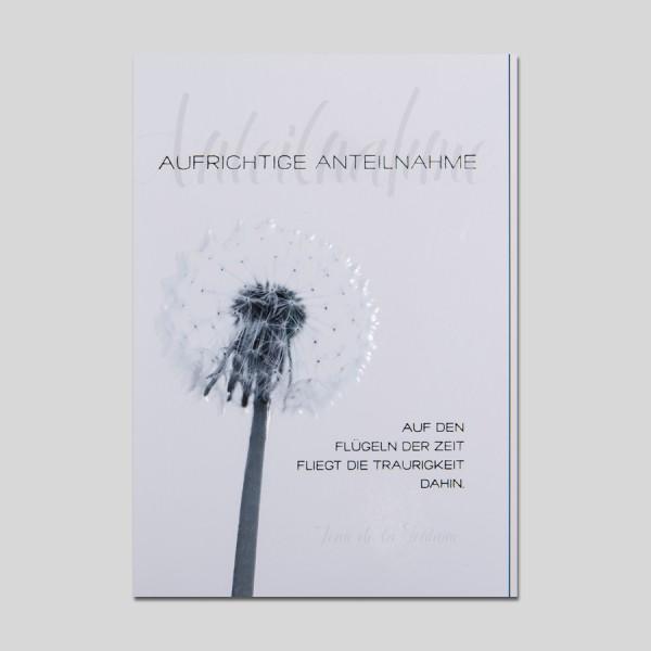 Umschlagkarte Trauer