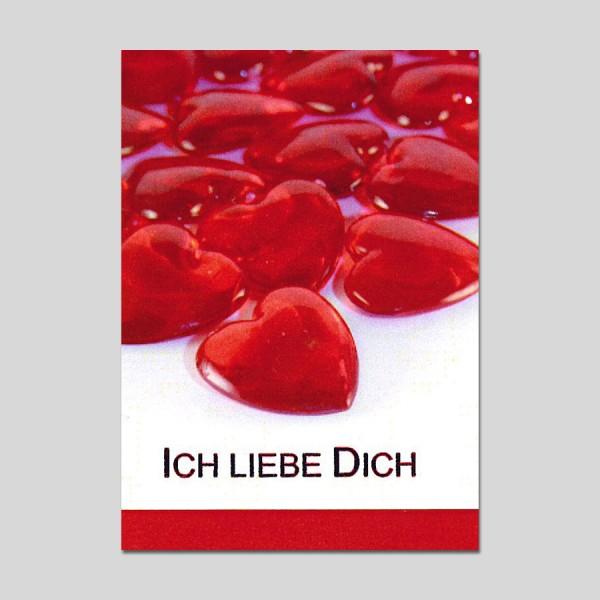 Minikarte Ich liebe Dich mit Klammer