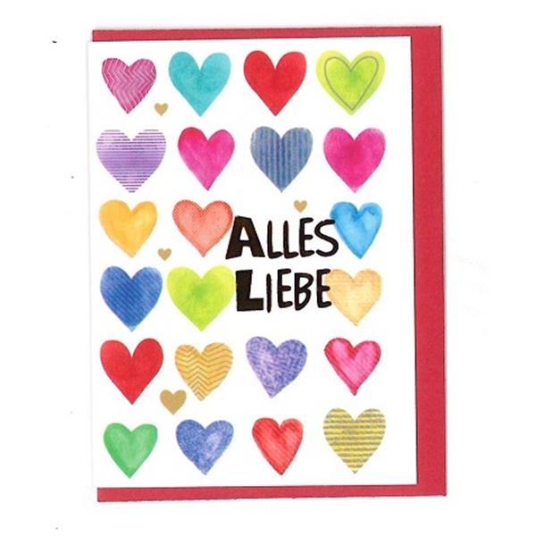 Klammerkarte Alles Liebe