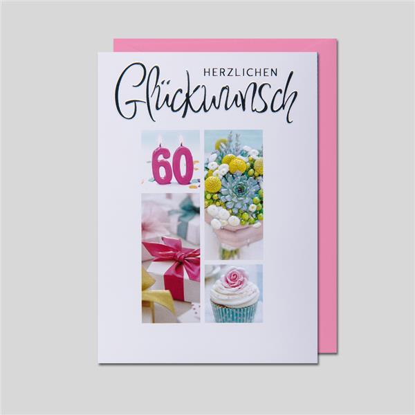 Fotokarte 60. Geburtstag