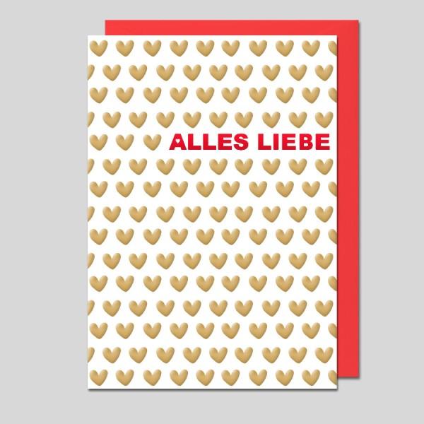 Grußkarte Alles Liebe