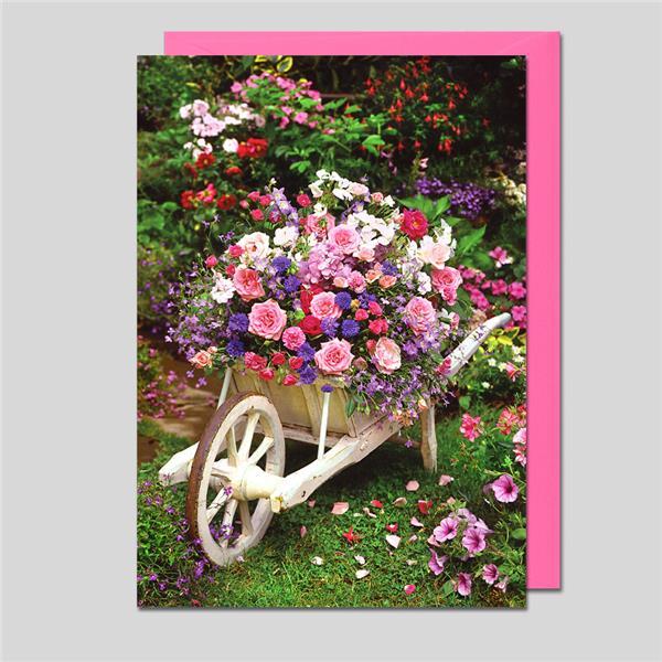 Midikarte Blumendeko