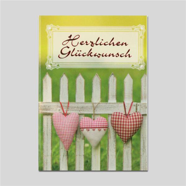 Minikarte Herzlichen Glückwunsch