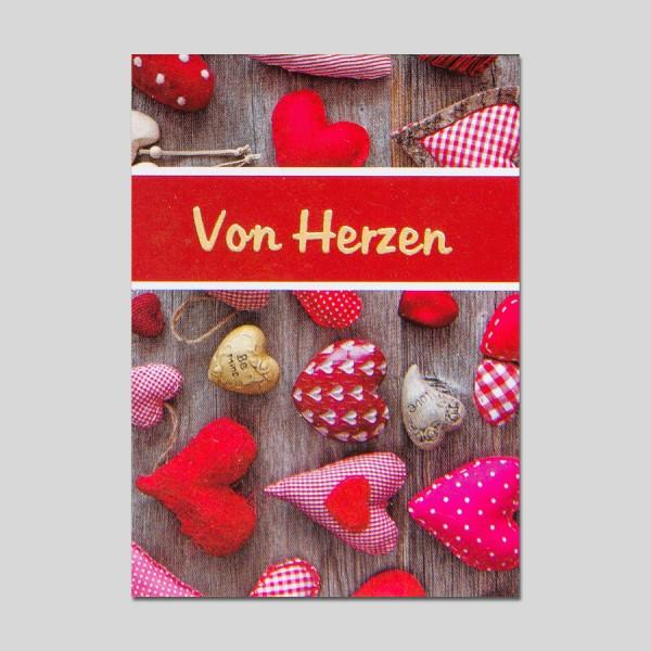 Minikarte Von Herzen mit Klammer