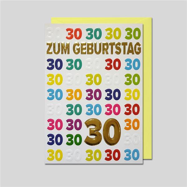 Umschlagkarte 30. Geburtstag