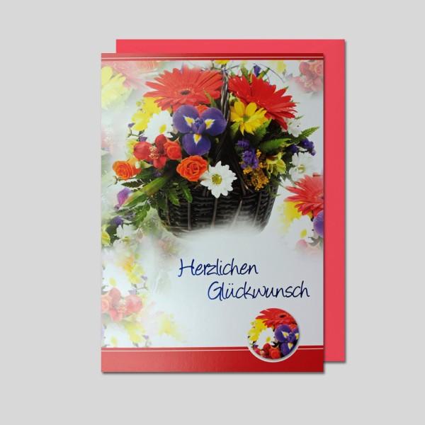 Umschlagkarte Herzlichen Glückwunsch