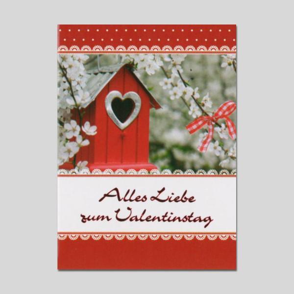 Minikarte Valentinstag mit Klammer