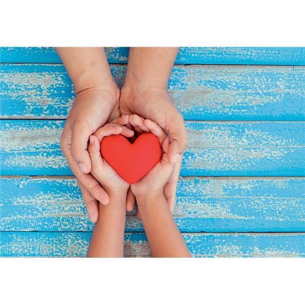 Midikarte Herz in Händen